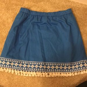 J. Crew Never Worn Blue and White Skirt